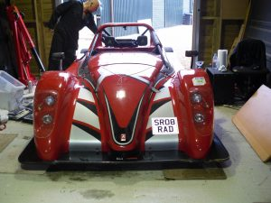 Front view of SR08RAD Radical SR8 road-going track car.