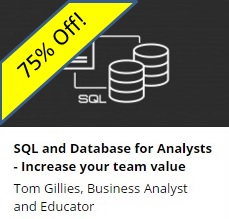 SQL and Database for Analysts - 75% Off